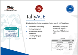 Tally Education Course (TALLY ACE With GST)