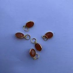 14k Solid Gold Jewelry Natural Carnelian Gemstone Pendant