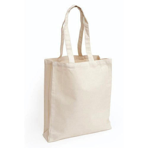 b24529849 Off White Plain Canvas Bag, Size: 40 X 38 X 15 Cm, Rs 62 /piece | ID ...