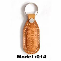 Promotional Genuine Exclusive Leather Keychain, 0.5 - 1 Mm, Packaging Type: Box