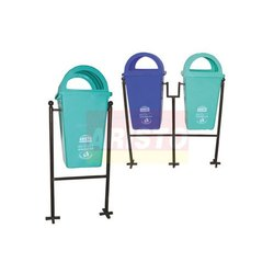 Pole Mounted Stand Waste Bin