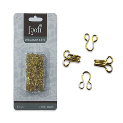Jyoti Dress Hook and Eye (Brass) - Golden- 3 Wire - 2