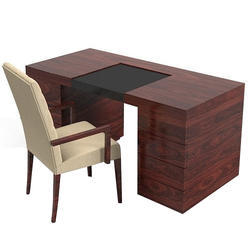 Laxman Furnitures Brown Wooden Office Table Chair Set Rs 15000 Id 13909970133