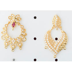 Cubic Zirconia Gold Earring
