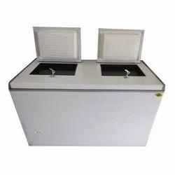 Top Open Door Glycol Double Door Ice Cream Freezer, -15 To 10 Degree C, Capacity: 425L
