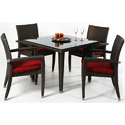 Outdoor Wicker Chair and Table