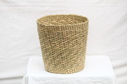 Sea Grass Round Bucket Planter (13 x 12 Inch)