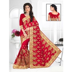 Kundan Work Party Wear Silk Saree