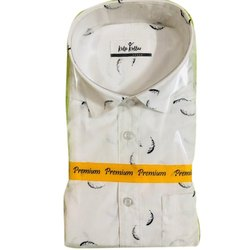 Cotton Collar Neck Casual Designer Shirts, Size: 38-44
