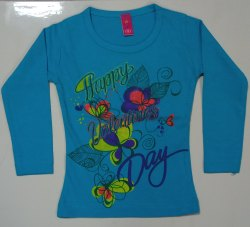 Girls Full Sleeve Kids T Shirt
