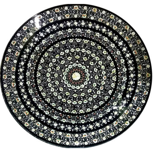 Fantastic Round Marble Inlay Table Top, Marble Inlay Table Top - Kakee  AP15