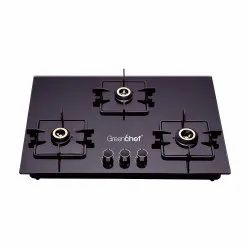 GREENCHEF Hob Top KELVIN 3BR, Total Gas Rating: 3, Knob Type: Rotatory