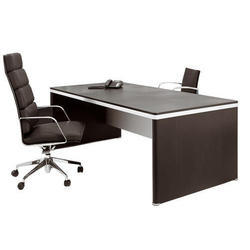 Plywood Rectangular Office Table With Chair