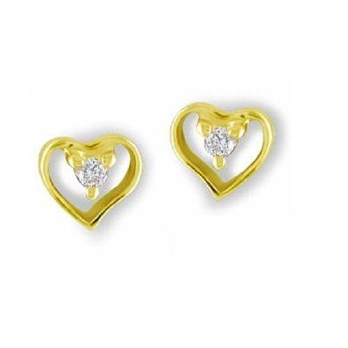 Designer Heart Shape Gold Earring at Rs 8600 pair