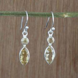 Citrine Gemstone 925 Silver Jewelry Handmade Earring