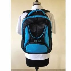 Black-Blue Zipper Shoulder Backpack