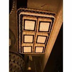 LED Crystal Ceiling Mount Decorative Hanging Chandelier