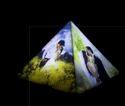 Pyramid Table Photo Lamp