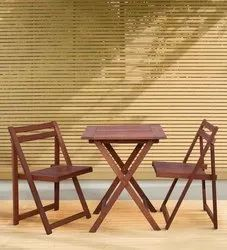 Aura Teak Wooden Coffee Set, Size/Dimension: 2 Feet x 2 Feet, Warranty: 1 Year