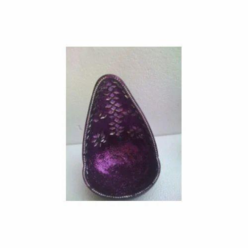 Purple Mosaic Diya