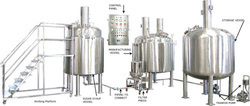 1000 liters pharmaceutical liquid manufacturing plant