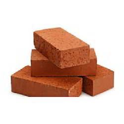 Rectangular Red Building Bricks, Size: 8 In. X 4 In. X 4 In., for Side Wall