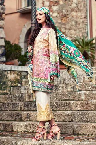 Faraz Manan Lawn Pakistani Suits Indian Suits Wholesaler From Delhi