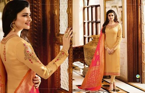 Georgette Embroidered Semi-Stitched Designer Suit