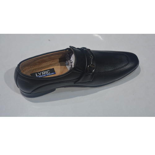 Mens Leather Semi Casual Black Shoes