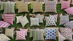 Indian Pure Cotton Block Printed Dori Cushion Cover