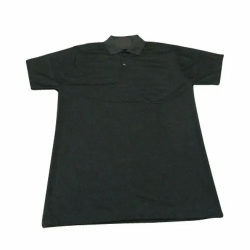 Polyester Mens Black Cotton T Shirt