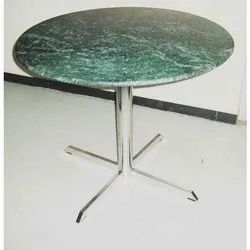 Hotel Table SS Stand with Marble Top