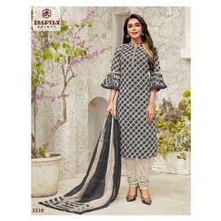 Deeptex Printed Ladies Fancy Churidar Suit, Handwash