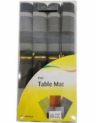PVC 4 Piece Dinner Table Mat