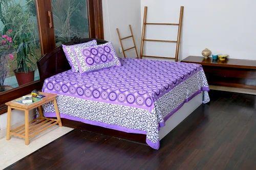 Jaipuri Screen Printed 100 % Cotton Best Quality Bedsheet