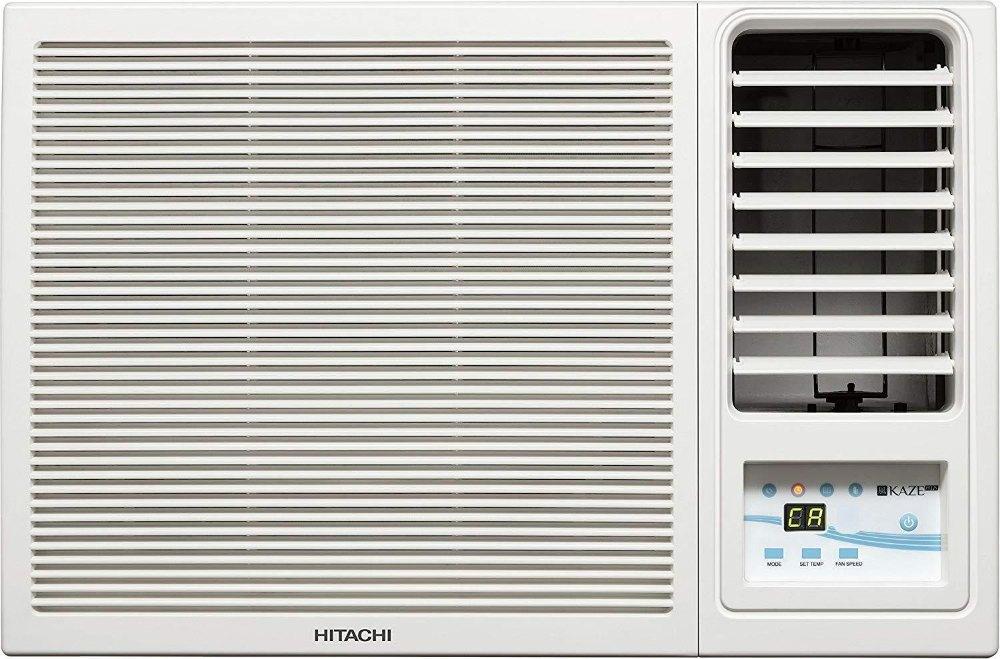 Hitachi 1.5 Ton 3 Star Window AC, White, Copper Condenser, RAW318KUD