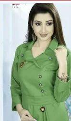 Ladies Designer Green Kurti