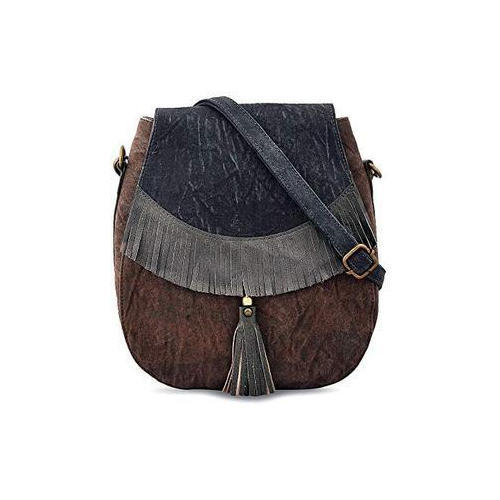 Daphne Fringe Bags Leather Canvas Cross Body Bag a462c7d651e9c