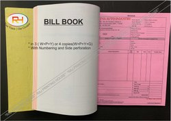 Paper Bill Book Printing in Delhi NCR