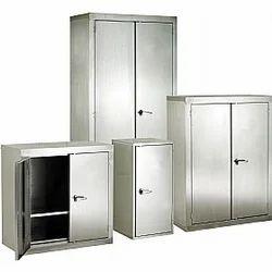 Metal 4 Shelves Stainless Steel Almirah