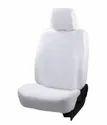 White Designer Cotton Car Seat Cover