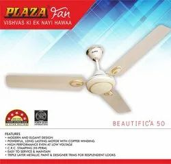 Plaza White Ceiling Fan, Sweep Size: 1200