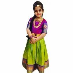 4d5a7cb4d2 Silk Festive Wear Girl Designer south Indian dress