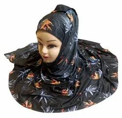 Women's Islamic Wear Jersey Stretchable Material Printed Hijab Scarf Dupatta