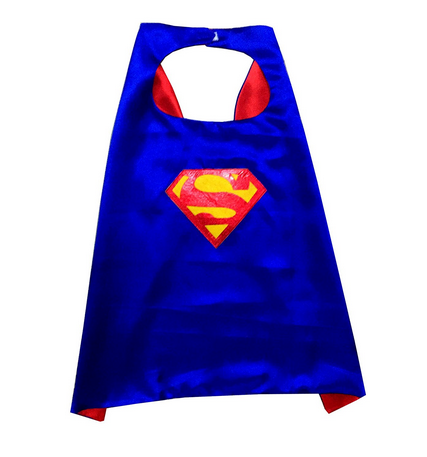 Blue Synthetic Fancy Steps Super Hero Man Superman Cape Birthday Gift