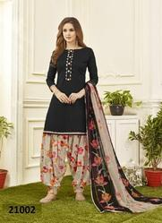 Cotton Satin Printed Punjabi Salwar Kameez