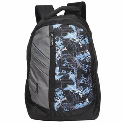 Polyester Printed Grey Free Size Backpack