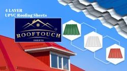 Four Layer UPVC Roofing Sheets Added Fiber Glass Net