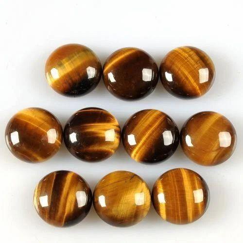 Bindal Gems Natural Tiger Eye Round Shape Gemstone