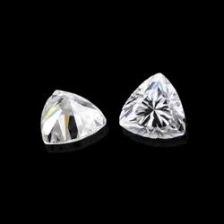 Trillion Cut White Colorless Moissanite Stone